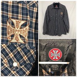 West Coast Choppers L/S Snap Button shirt 2X